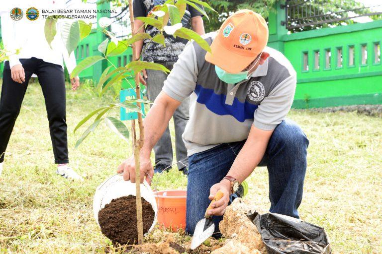 Penanaman dalam rangka Peringatan Hari Bakti Rimbawan ke 38 oleh UPT Kementerian Lingkungan Hidup dan Kehutanan lingkup Provinsi Papua Barat