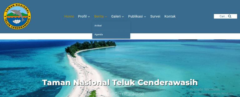 Wajah Baru Website Taman Nasional Teluk Cenderawasih